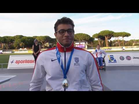 Men's 800 m T53 | Victory Ceremony | 2016 IPC Athletics European Championships Grosseto