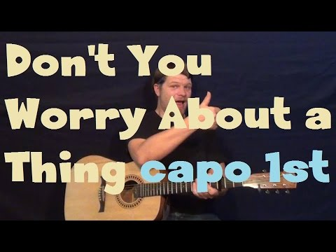 Don't You Worry 'Bout A Thing(Stevie Wonder) Guitar Lesson Capo 1st Fret How to Play Tutorial