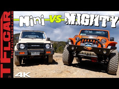 Big vs Small: Can a Suzuki Samurai Keep up with a Lifted Wrangler When the Going Gets Sketchy?