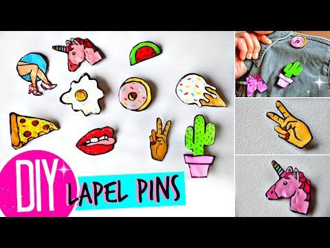 DIY: Tumblr PINS, BROOCHES using GLUE!!