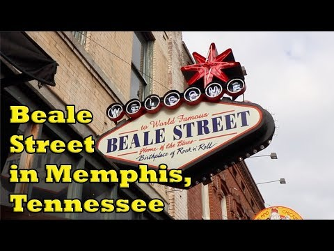 Walking Beale Street In Memphis, Tennessee