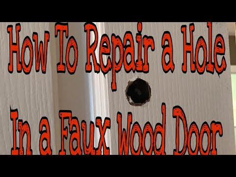 DIY How to Repair A Hole In A Faux Wood Grain Door
