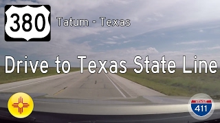 US Highway 380 - Tatum - Texas State Line - New Mexico | Drive America's Highways 🚙