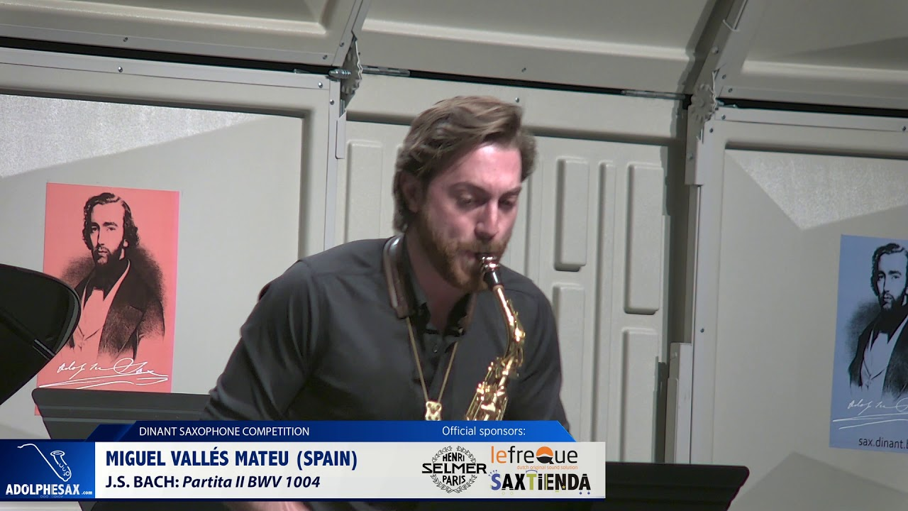 Miguel Vallés Mateu (Spain) -  Partita II BWV 1004 by J.S. Bach (Dinant 2019)