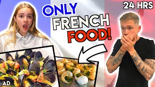 ONLY EATING FRENCH FOOD'S FOR 24 HOURS CHALLENGE!!
