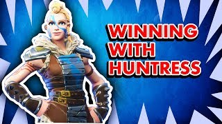 Enfin acheté FORTNITE SEASON 5 BATTLE PASS - VICTORY ROYALE avec HUNTRESS SKIN (Fortnite Gameplay)