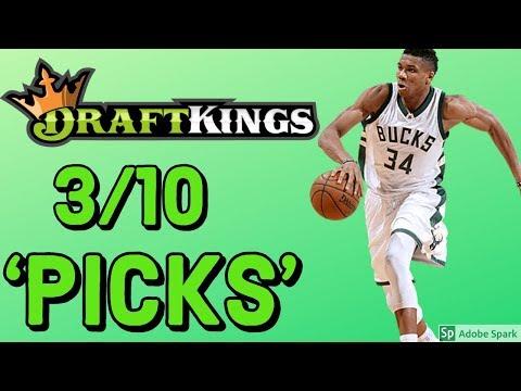DRAFTKINGS NBA SUNDAY 3/10/19 PICKS   DFS NBA PICKS STRATEGY