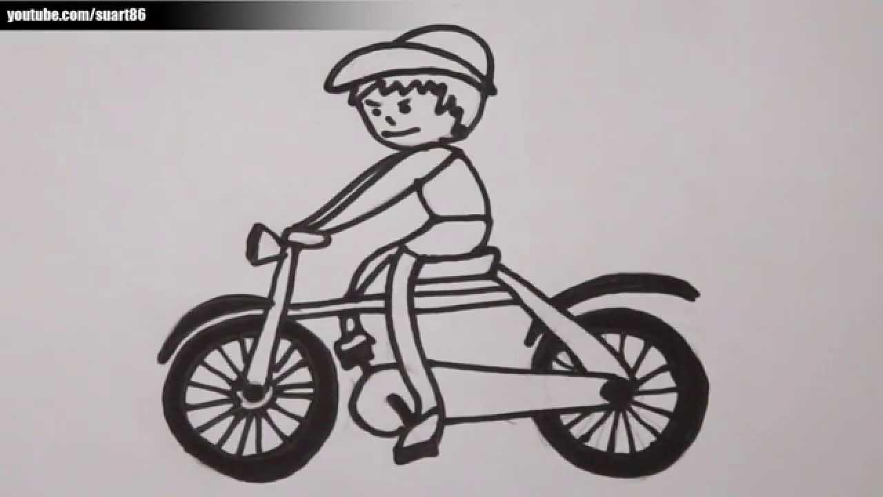 Como dibujar una bicicleta  YouTube