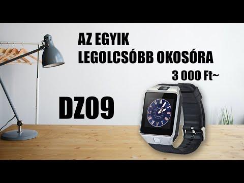 DZ09 - Egy olcsó okos-óra bemutatása - YouTube ba193713a9