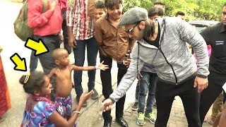 Beggar & Her Child Ask Ranveer Singh For Handshake.. What Ranveer Does Next Will Melt Ur Heart