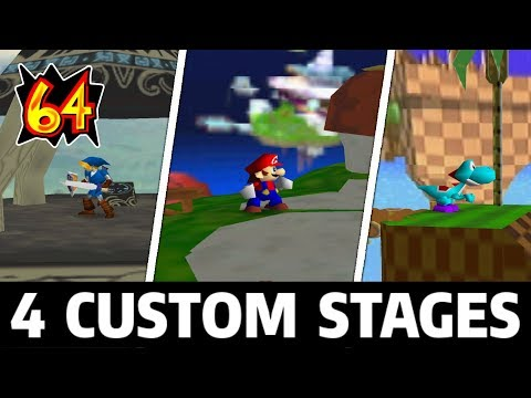 4 Custom Super Smash Bros Stages Great Plateau Green Hill Zone Melee Peachs Castle Etc