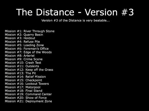 The Distance Version #3 - Guide/Walkthrough - The Walking Dead: No Man's Land