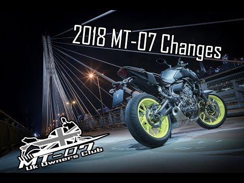 2018 Yamaha MT-07 Changes