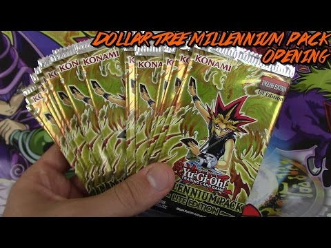 Yu-Gi-Oh 20 Dollar Tree Millennium Pack Opening!