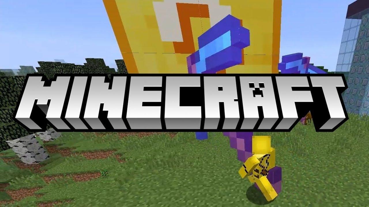 『Minecraft 指令世界』超巨大幸運方塊 - YouTube