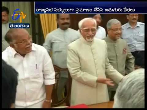 5 Newly Elected Members Take Oath in Rajya Sabha