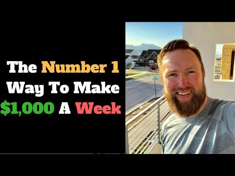 The Number 1 Way To Make $1,000 A Week Online If You're Broke (But Resourceful!)