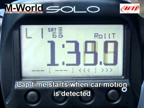 AiM Solo Demo by M-World Online Store: Lap Time Mode