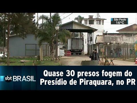 Quase 30 presos são resgatados do Presídio de Piraquara, no Paraná | SBT Brasil (11/09/18)