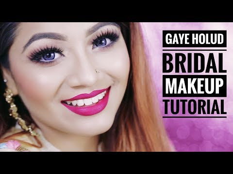 Wedding Makeup Tutorial: Yellow Eye Makeup
