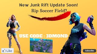*NEW* JUNK RIFT & GLITCH ITEMS! BYE Soccer Stadium !!! FORTNITE (USE CODE : 3DMOND) 🔴 LIVE 🔴