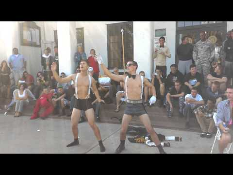 Military School Gangnam style striptease