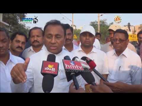 YSRCP MP Mekapati Rajamohan Reddy visits Nellore South Railway station & Speaks on Development Works