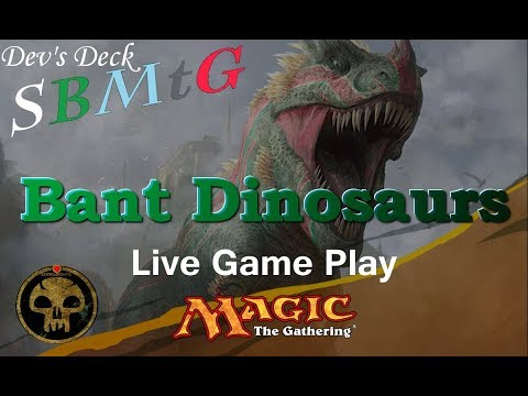 Dev's Deck:  Bant Dinosuars in Rivals  of Ixalan Standard!