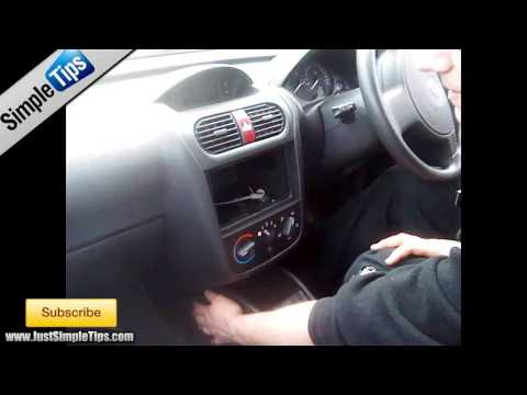chevy fuse box removal how to fit a radio into a vauxhall corsa justaudiotips astra fuse box removal #9