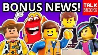 BONUS LEGO NEWS! LEGO Movie 2! Star Wars 20th Anniversary! Toy Story 4! LEGO Masters!