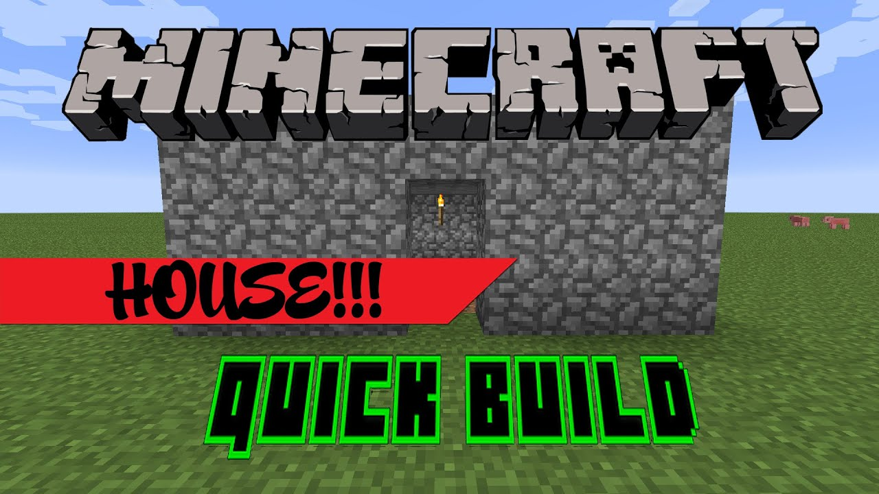 Minecraft   Quick Build   House Troll!!! - YouTube