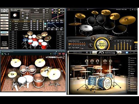 Testing VST Drums SSD5, MTPower Drumkit2, Big Bang Drums, Addictive Drums2
