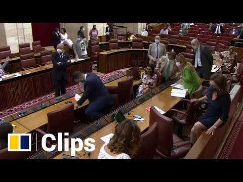 Rat ruckus: rodent spooks lawmakers in southern Spain by taking the floor in parliament session