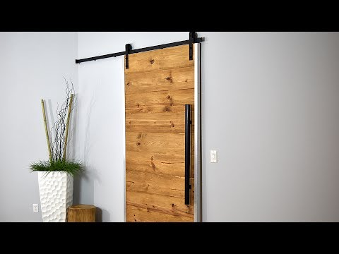 How I Made My Sliding Barn Door | Rustic Modern