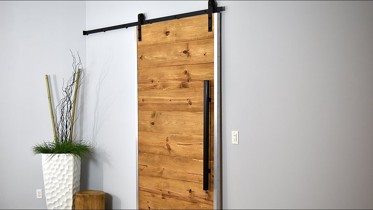 How I Made My Sliding Barn Door | Rustic Modern - YouTube