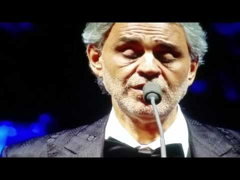 Time to Say Goodbye Andrea Bocelli Dec 2016 Live!