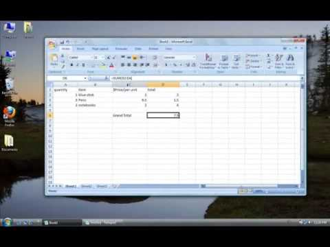 how to make a running total in excell