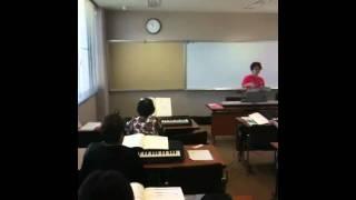 第一回目の楽ちんピアノ教室 岡田コミュニティーセンター.