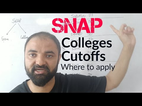 SNAP colleges and cutoffs