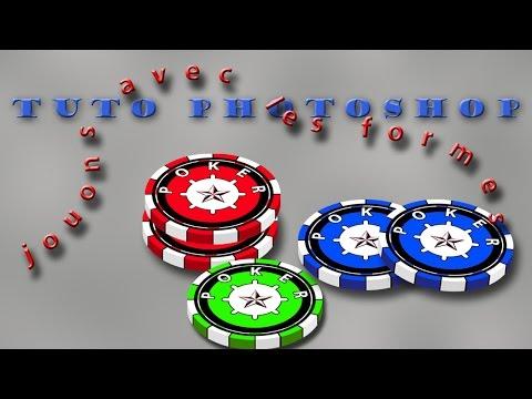 Ateliers formes dans Photoshop le jeton de poker