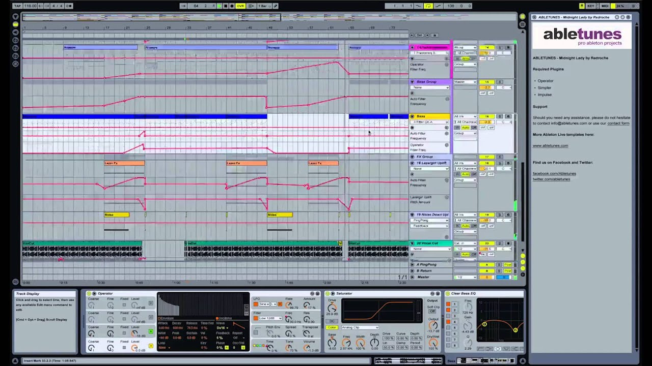 Nu Disco Ableton Live Template Midnight Lady By Redroche
