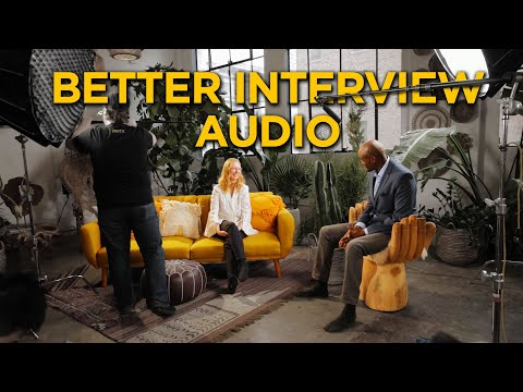 Better Interview Audio | How To Mic Up 2 People With Booms And Lavs