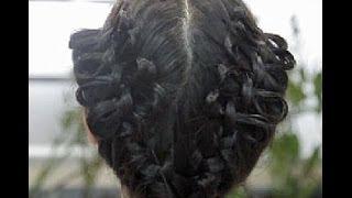Как сделать прическу с бантиками из волос .Вариант 2