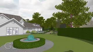 Garden Design 3D video, Hampshire