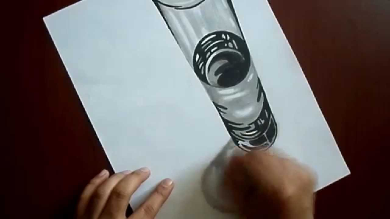 Vaso 3d youtube - Vaso con agua ...