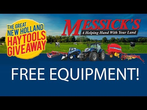 Free Equipment! Great New Holland Hay Tools Giveaway