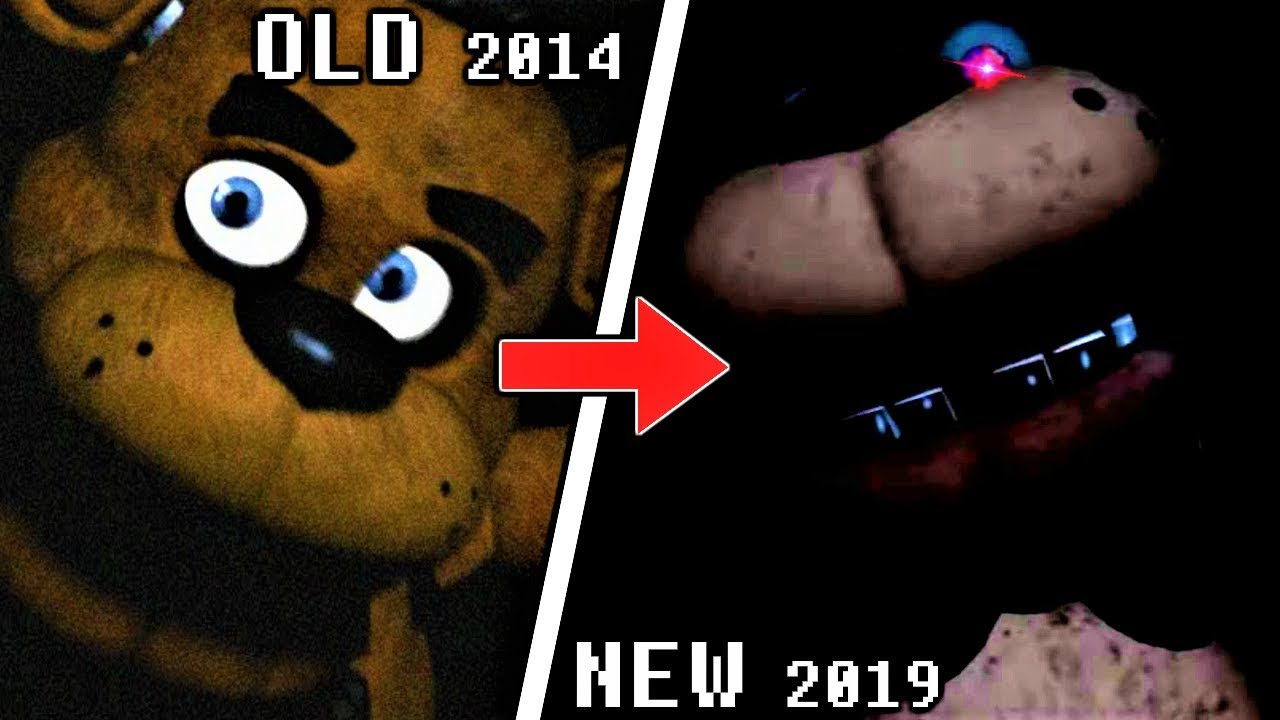 ALL FNaF VR: Help Wanted JUMPSCARES COMPARISON & EVOLUTION (FNaF 2014 to  2019)