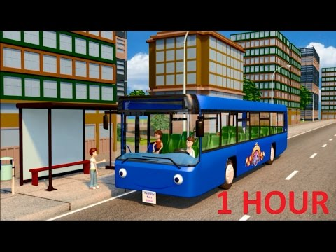 Wheels On The Bus - plus more Classic Nursery Rhymes   1 Hour of Children Songs