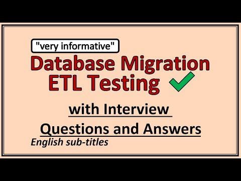 Database Migration Testing | ETL testing - with Interview Questions and Answers