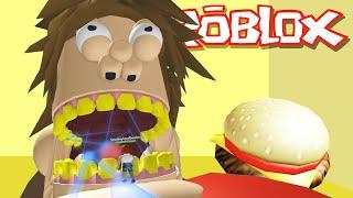 Roblox Aventuras / Escapar del gordo gigante Obby / El gordo malvado quiere comerme!